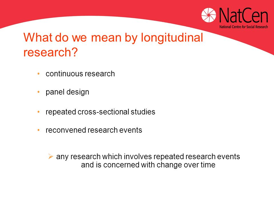 What do we mean by longitudinal research.