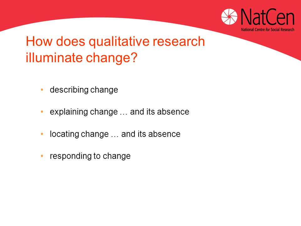How does qualitative research illuminate change.