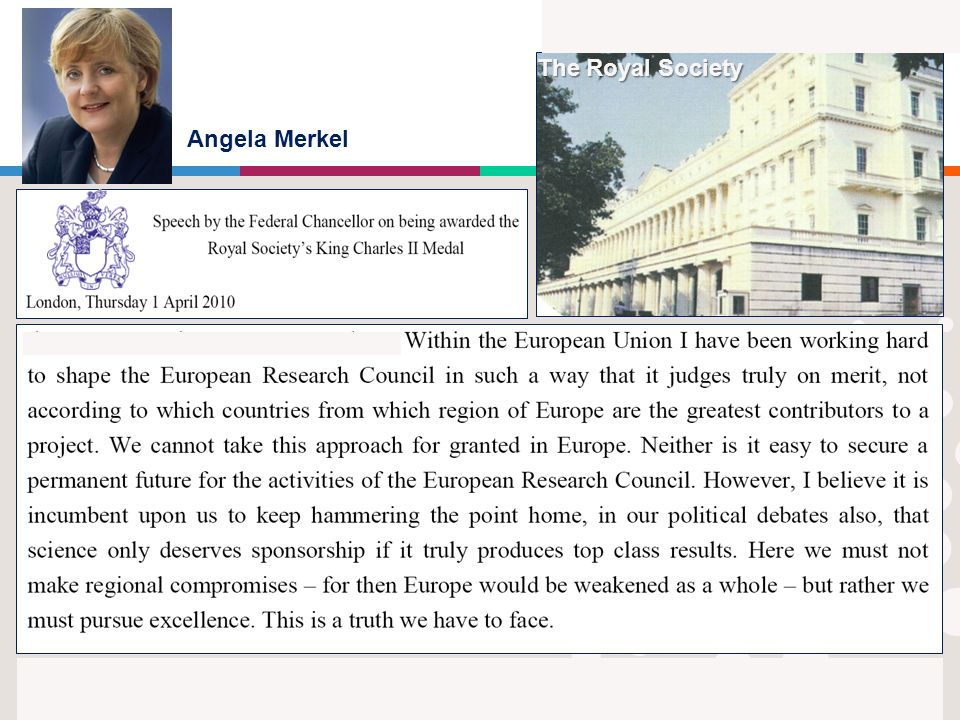 6 Angela Merkel The Royal Society