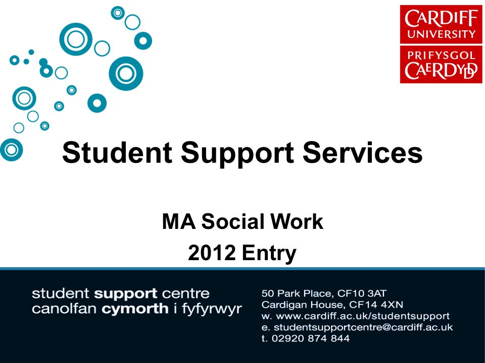 Student Support Services MA Social Work 2012 Entry