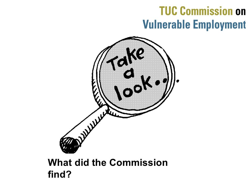 What did the Commission find?