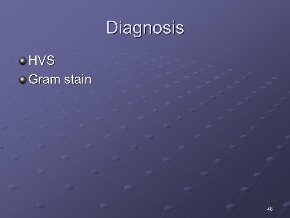 48 Diagnosis HVS Gram stain