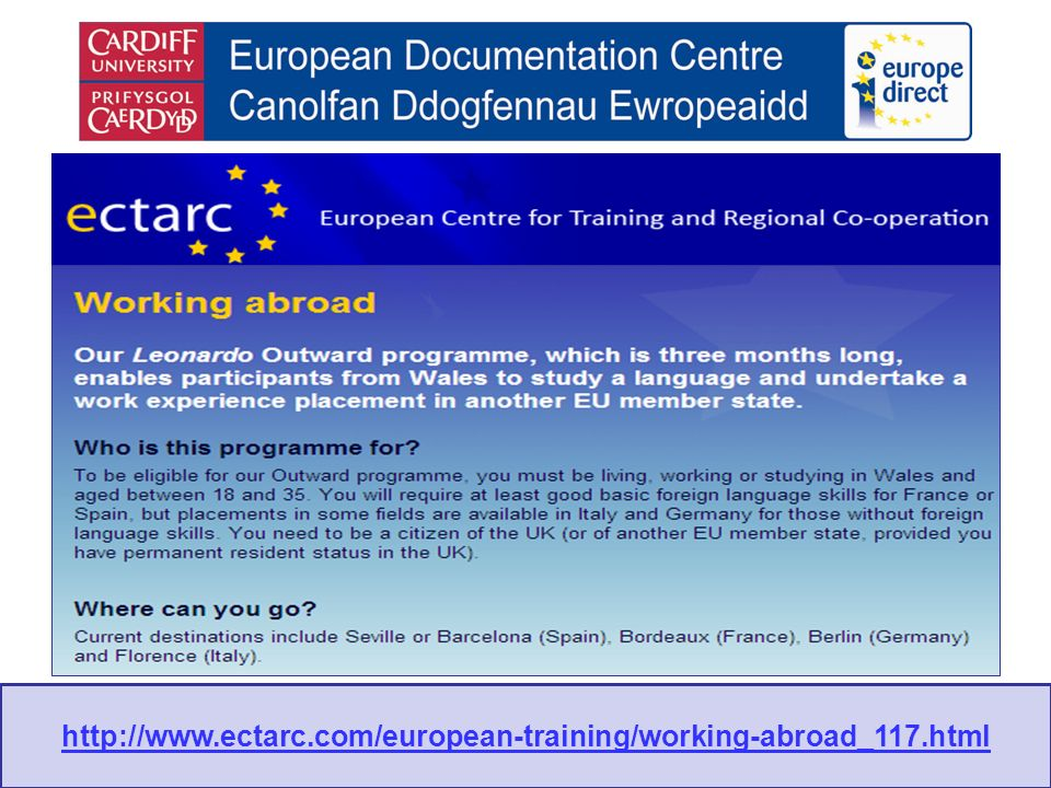 http://www.ectarc.com/european-training/working-abroad_117.html