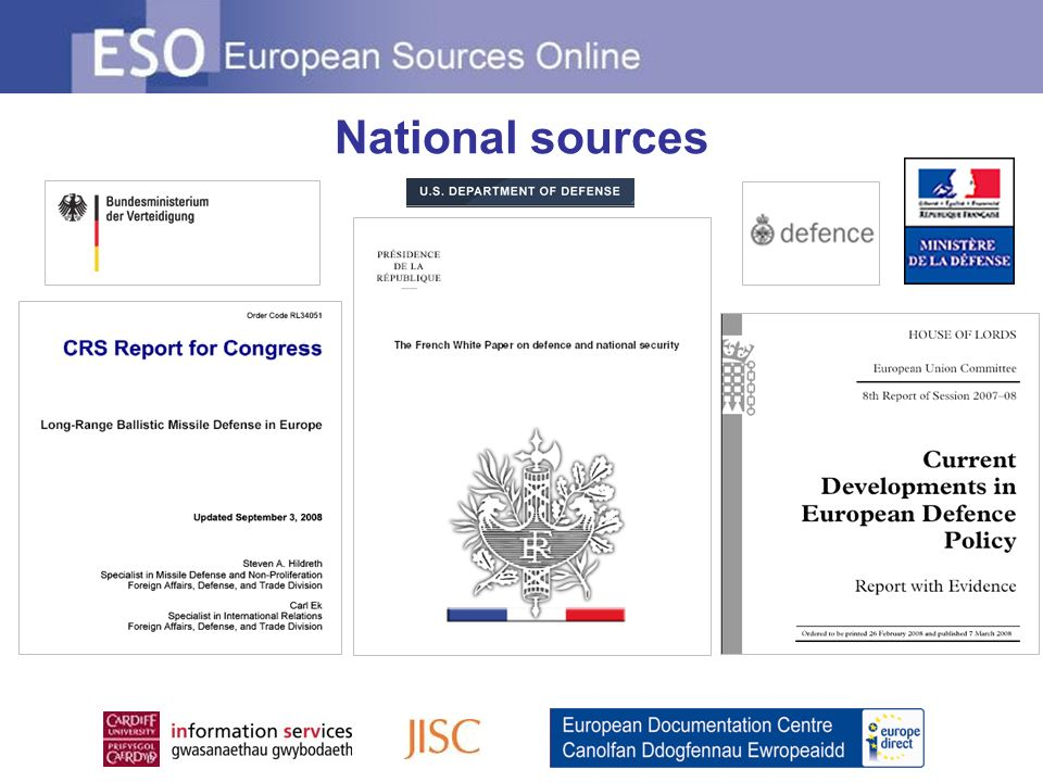 National sources