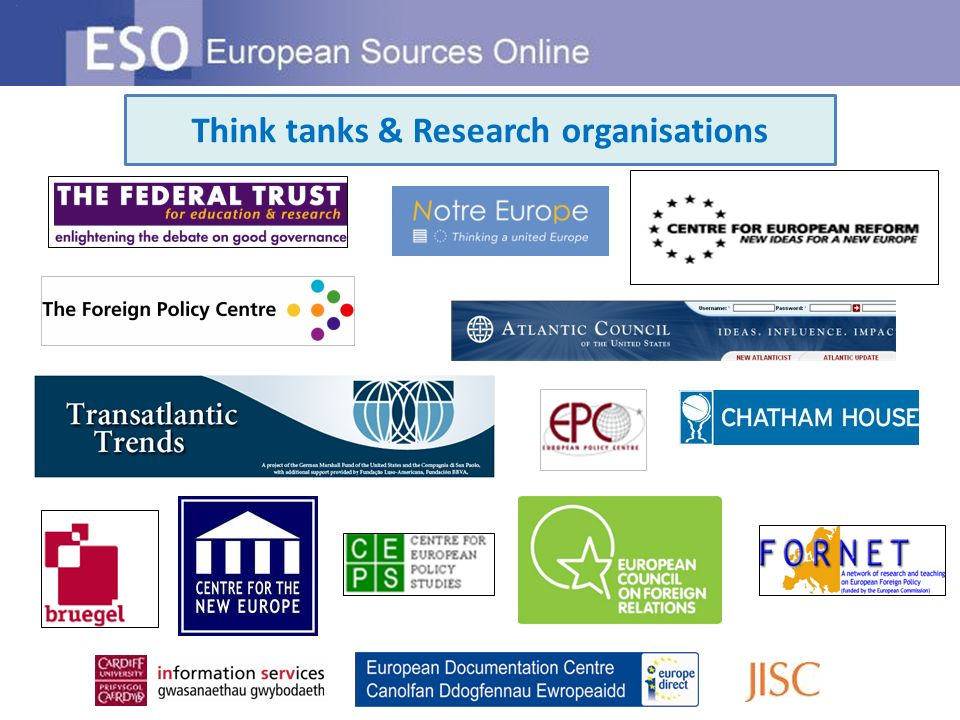 Think tanks & Research organisations