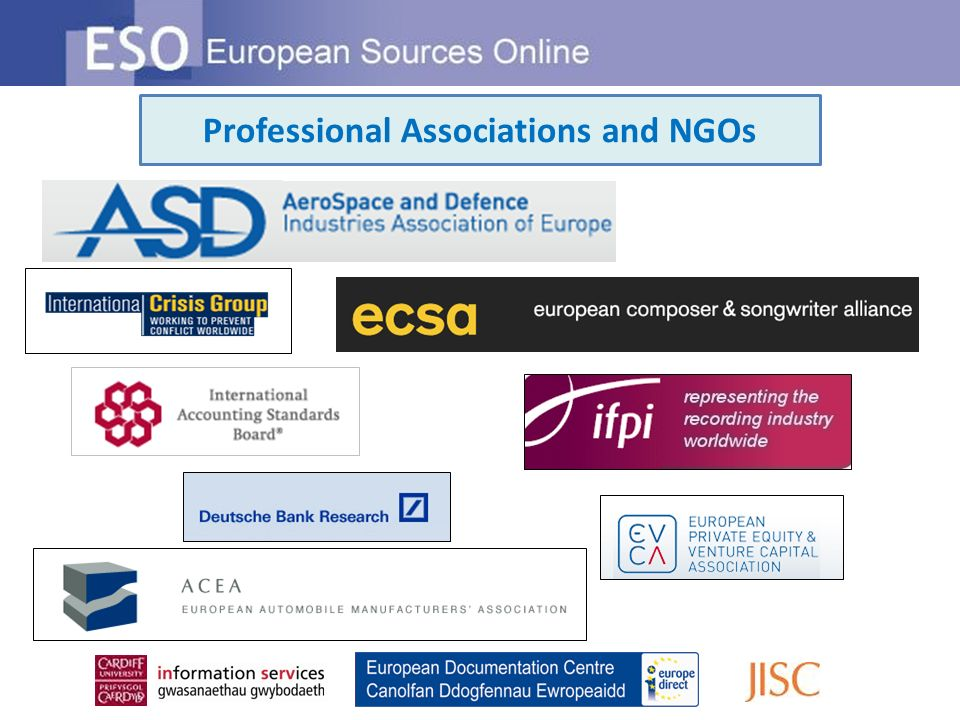 Professional Associations and NGOs