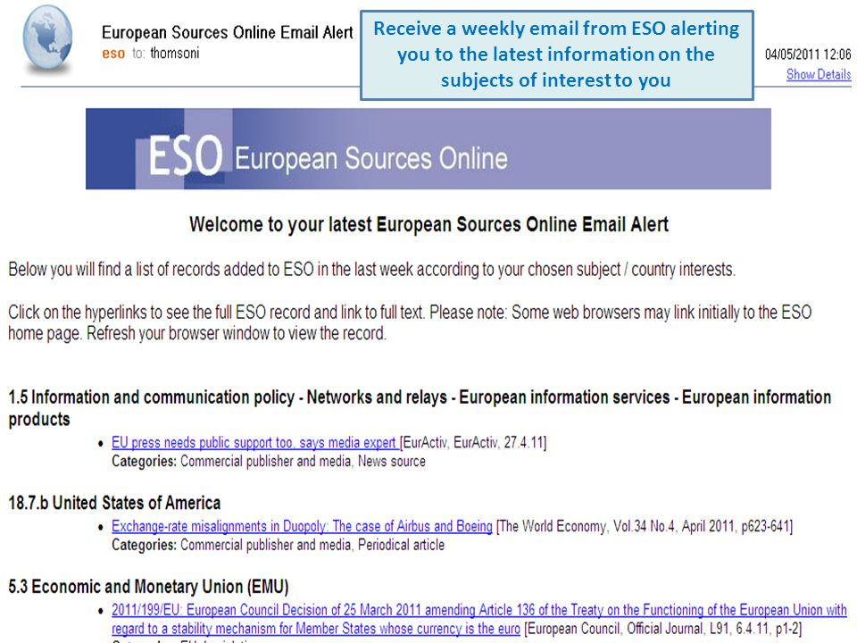 Receive a weekly email from ESO alerting you to the latest information on the subjects of interest to you