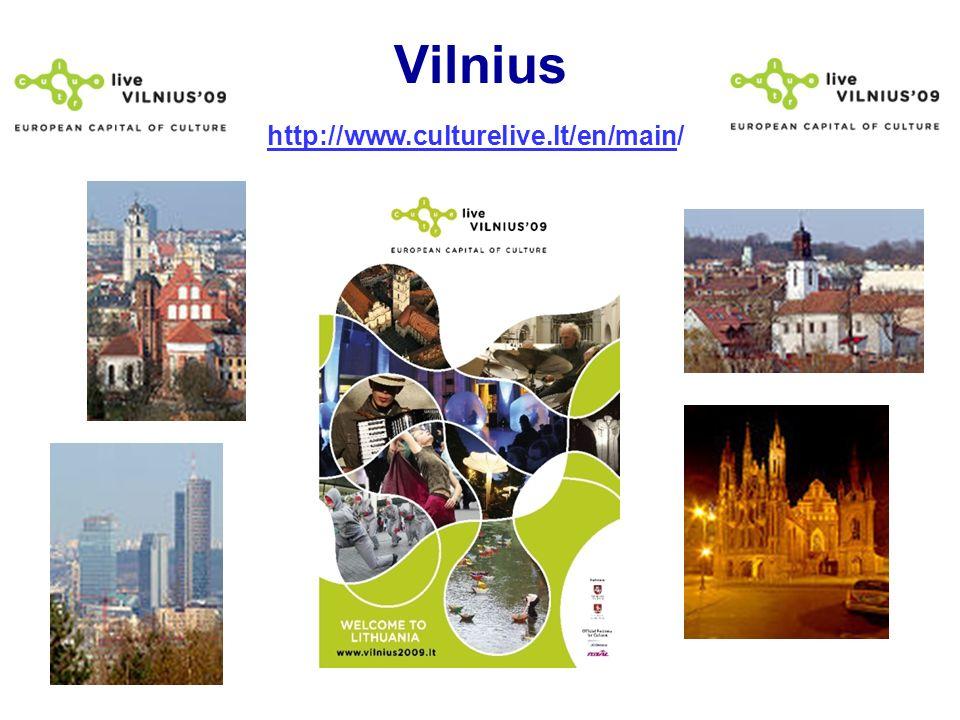 Vilnius http://www.culturelive.lt/en/main/http://www.culturelive.lt/en/main