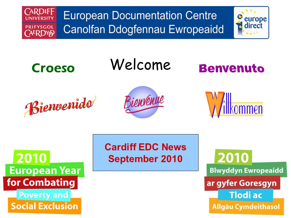 Welcome Croeso Cardiff EDC News September 2010