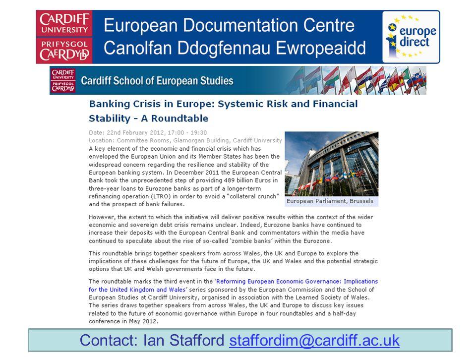 Contact: Ian Stafford staffordim@cardiff.ac.ukstaffordim@cardiff.ac.uk