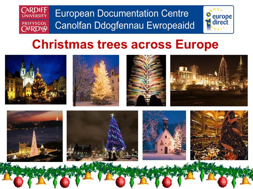 Christmas trees across Europe