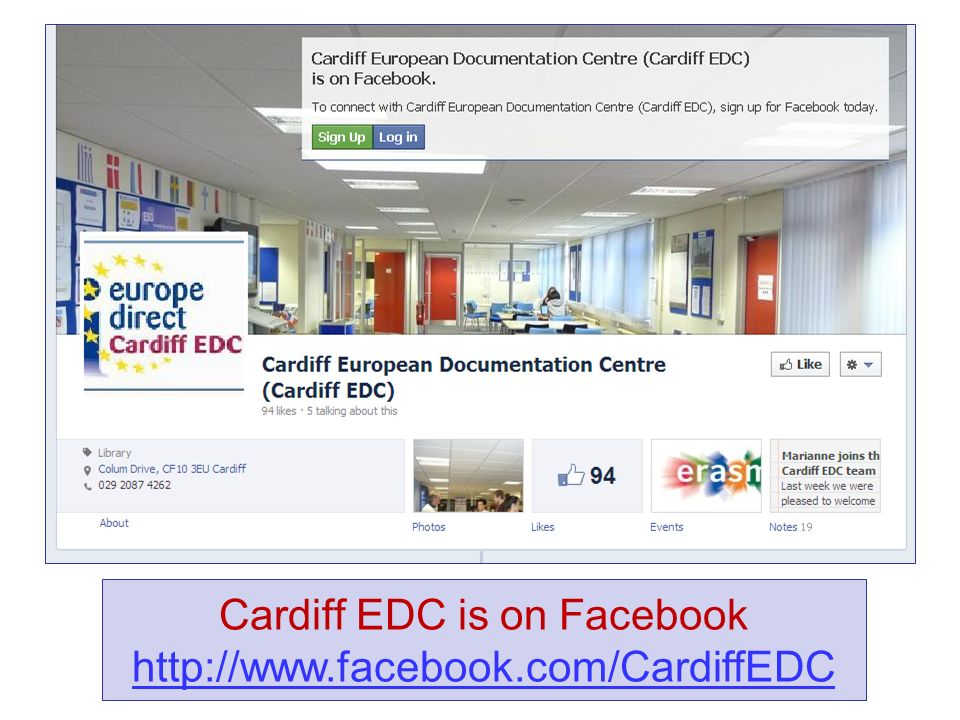 Cardiff EDC is on Facebook http://www.facebook.com/CardiffEDC