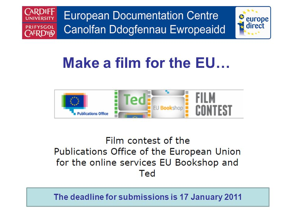 Make a film for the EU… The deadline for submissions is 17 January 2011