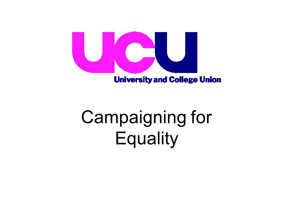 Campaigning for Equality