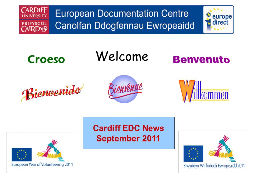 Welcome Croeso Cardiff EDC News September 2011