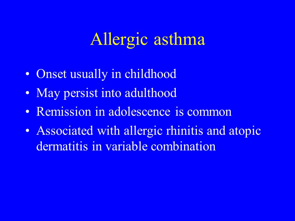 Intrinsic asthma Onset in adults No external inciter is recognized Often associated with perennial non-allergic rhinitis Accounts for approx.