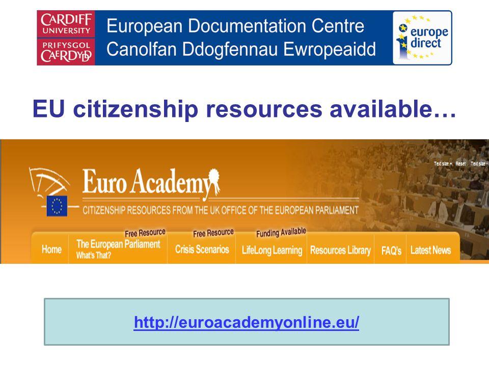 EU citizenship resources available… http://euroacademyonline.eu/