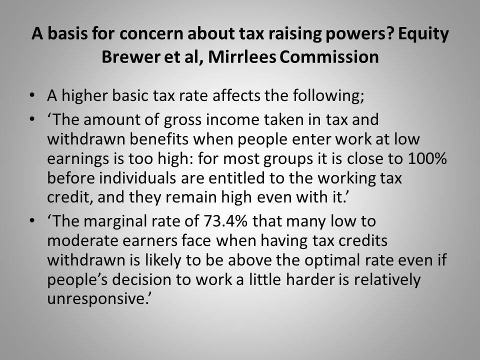 A basis for concern about tax raising powers.