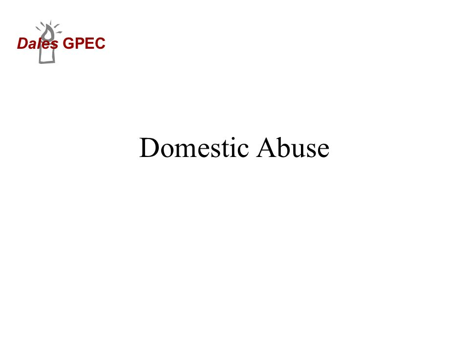Dales GPEC Domestic Abuse