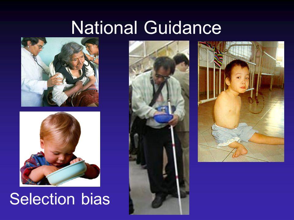 National Guidance Selection bias