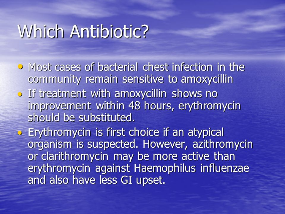 Which Antibiotic.
