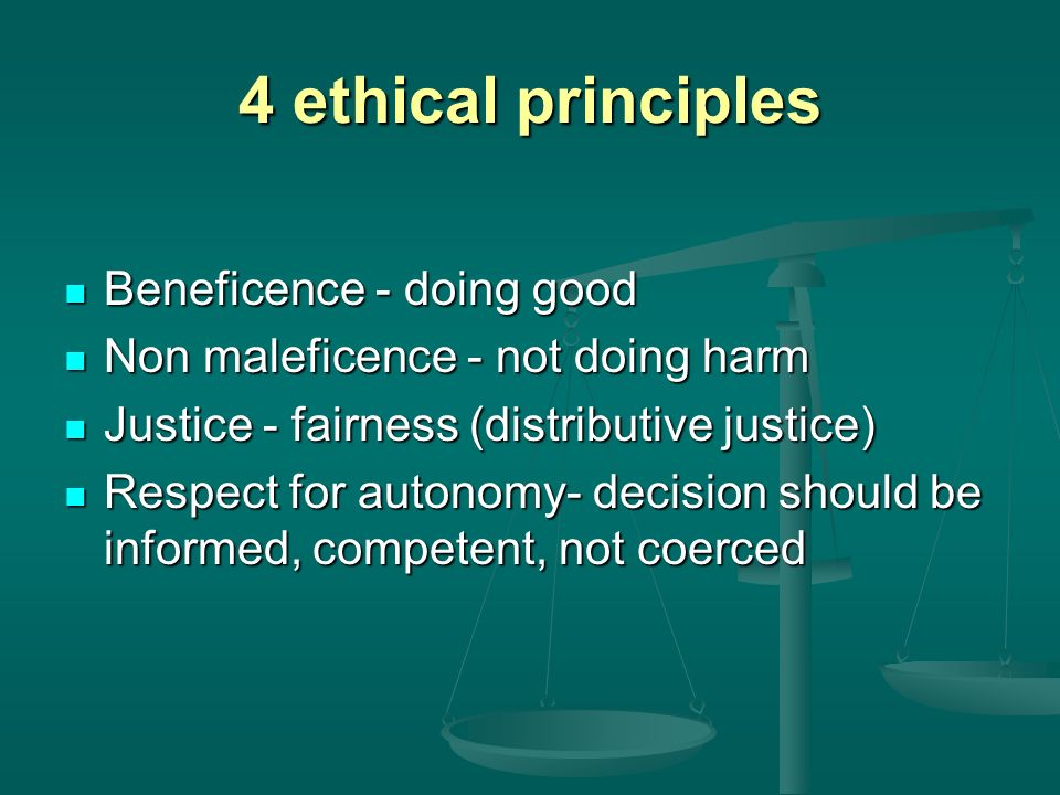 4 moral theories Virtue - innate character attributes Virtue - innate character attributes Duties - rules of moral conduct Duties - rules of moral conduct Utility - the greatest good of the greatest number Utility - the greatest good of the greatest number Rights - people are intrinsically entitled to certain things/services Rights - people are intrinsically entitled to certain things/services