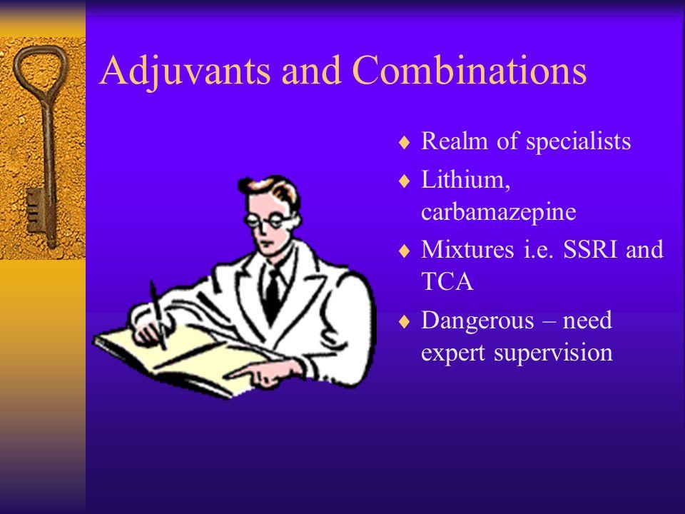 Oddities Tryptophan Natural amino acid - Serotonin precursor. Eosinophilia-myalgia syndrome, Hospital initiation only. Adjuvant to others ? Flupenthix
