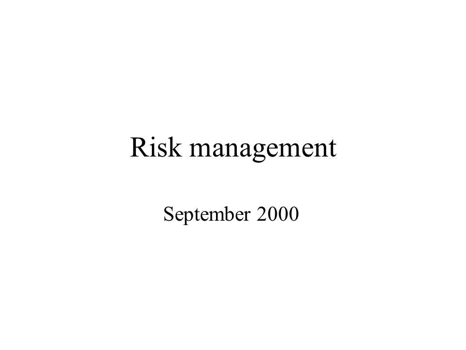 Risk management September 2000