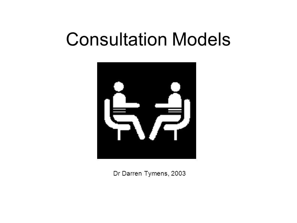 Consultation Models Dr Darren Tymens, 2003