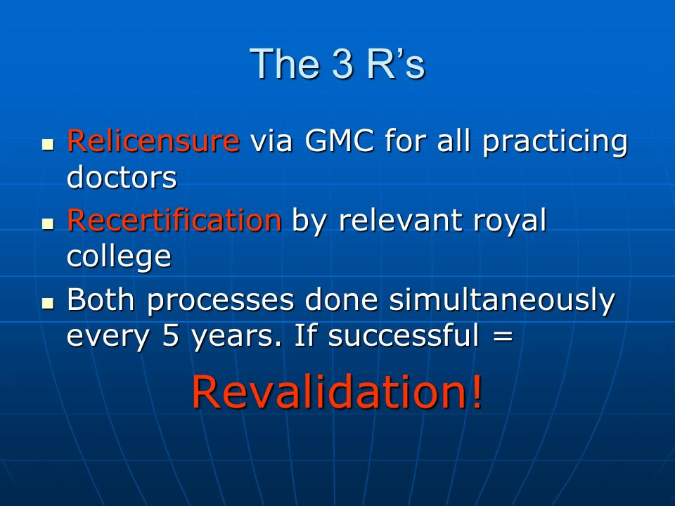 Revalidation Portfolio 1.Basic details 2. Exceptional Circumstances 3.