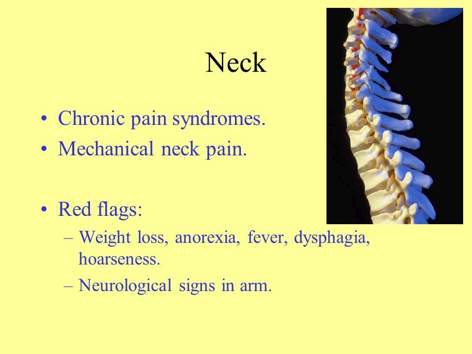 Neck Chronic pain syndromes.Mechanical neck pain.