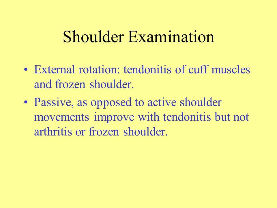 Elbow Olecranon bursitis. –Common in rheumatoid. –Trauma. –Gout, pseudogout. –Infection.
