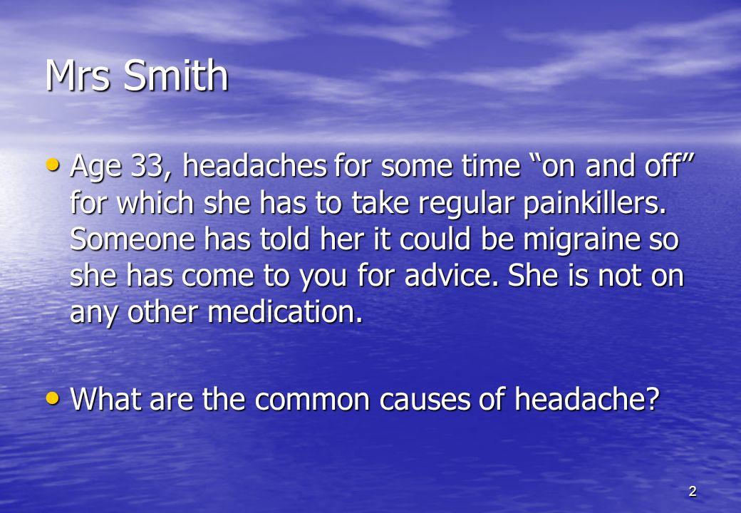 3 Headache Types Tension type headache Migraine Cluster headache Chronic Daily headache Medication misuse headache