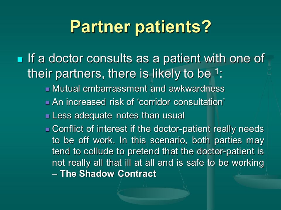 Partner patients.