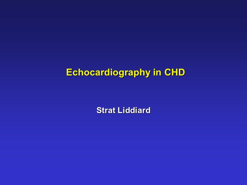 Echocardiography in CHD Strat Liddiard