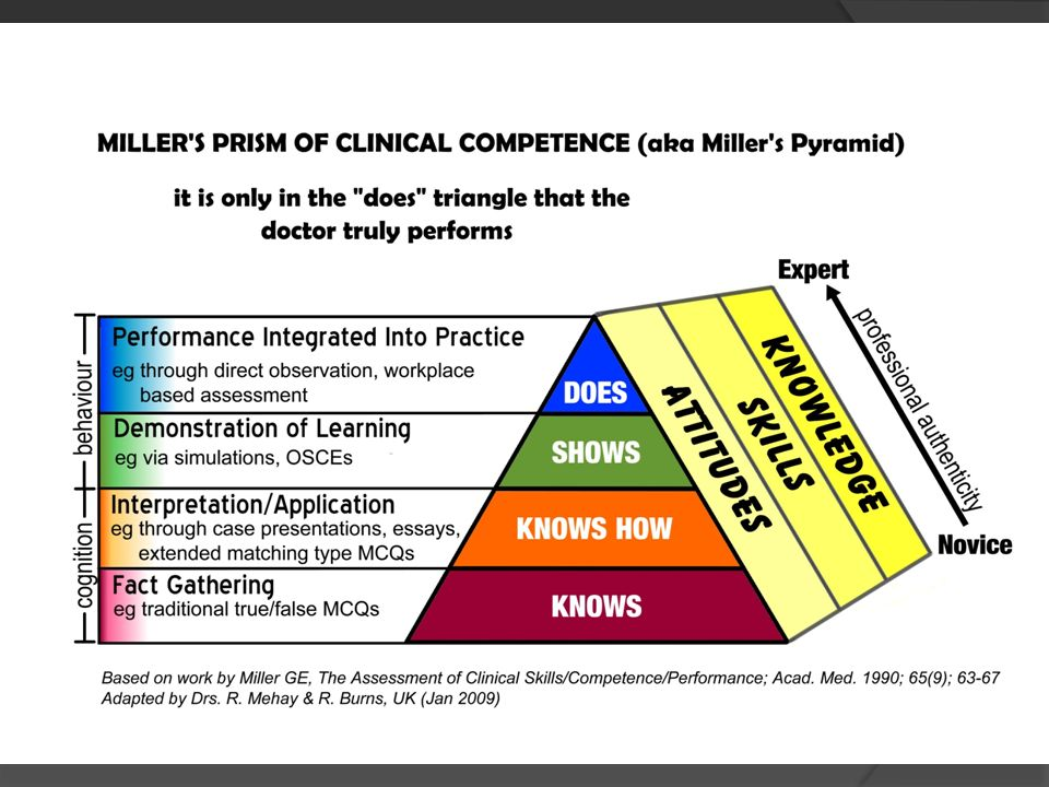 Millers Pyramid or Prism of Clinical Competence