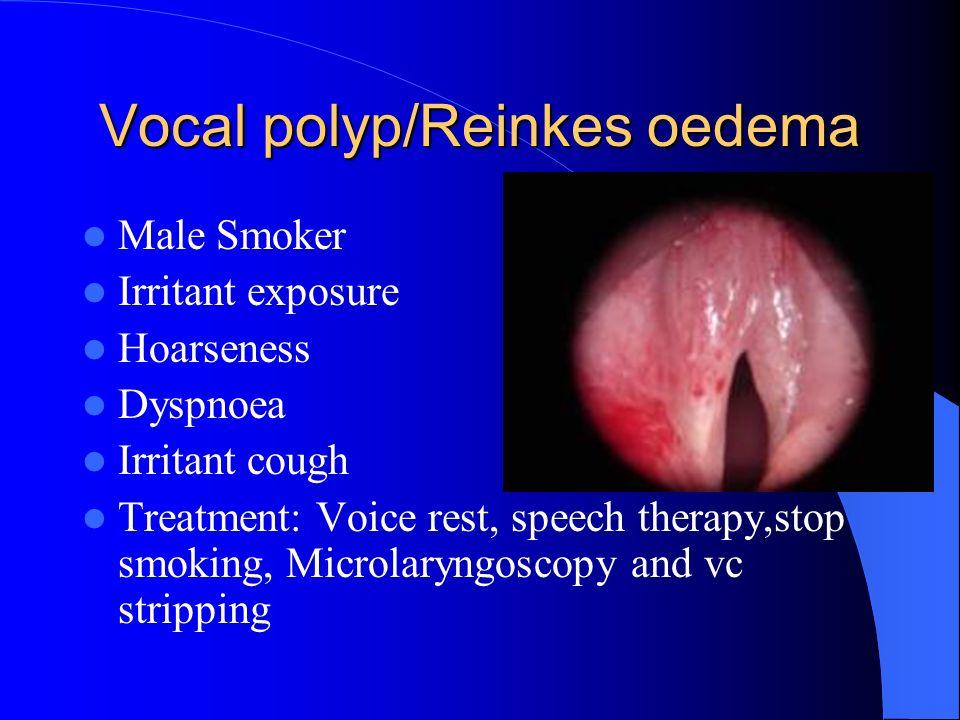 Laryngitis - GORD Laryngitis - GORD Hx of GORD Inflammation of Post larynx Treatment for reflux Raising head end of cot