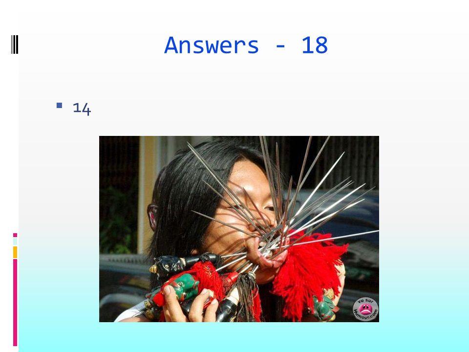 Answers - 18 14