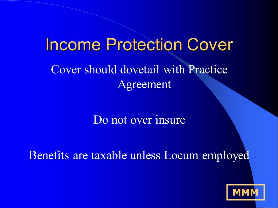 Income Protection Cover What the PCT Provides.