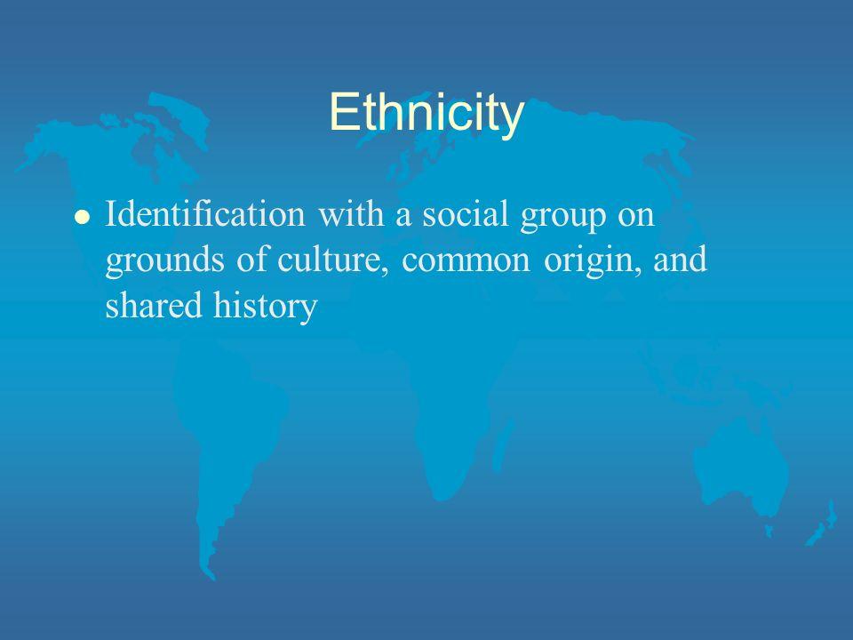 Genetic inheritance (Race?) Geographical origin Nationality History/ Migration Language Culture Religion Ethnicity