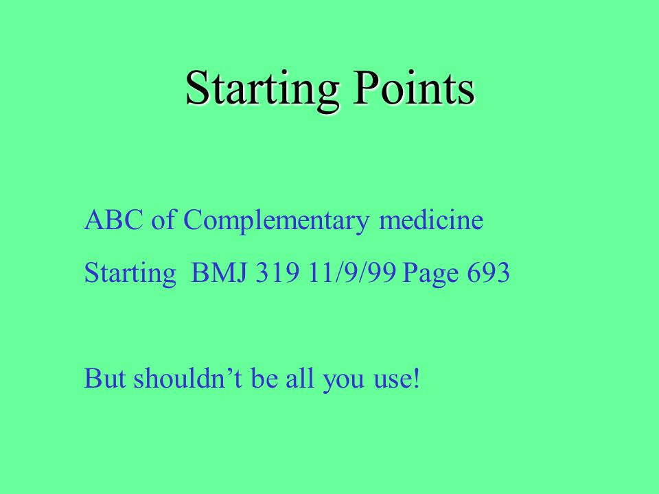 Starting Points The Which. Guide to Complementary Medicine Which .
