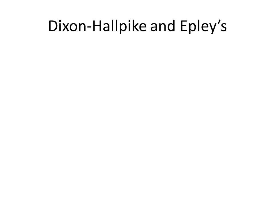 Dixon-Hallpike and Epleys