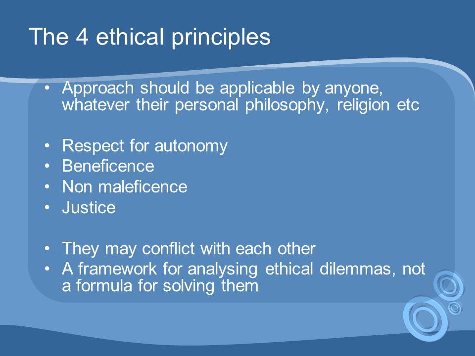 Four Ethical Principals.