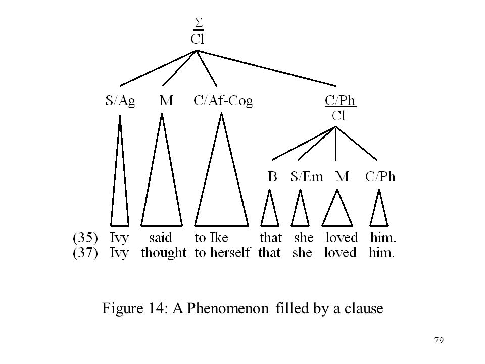 79 Figure 14: A Phenomenon filled by a clause
