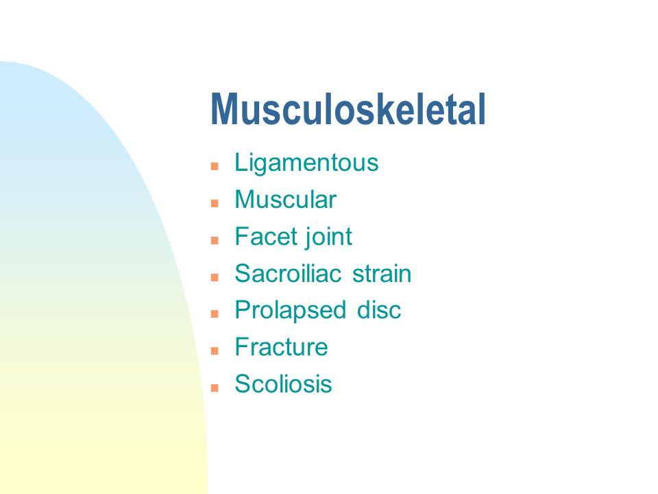 Degenerative n Osteoarthritis n Spondylosis
