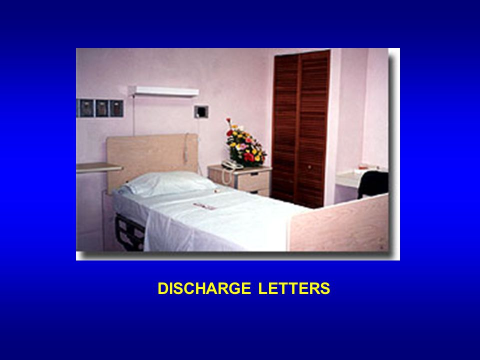 DISCHARGE LETTERS