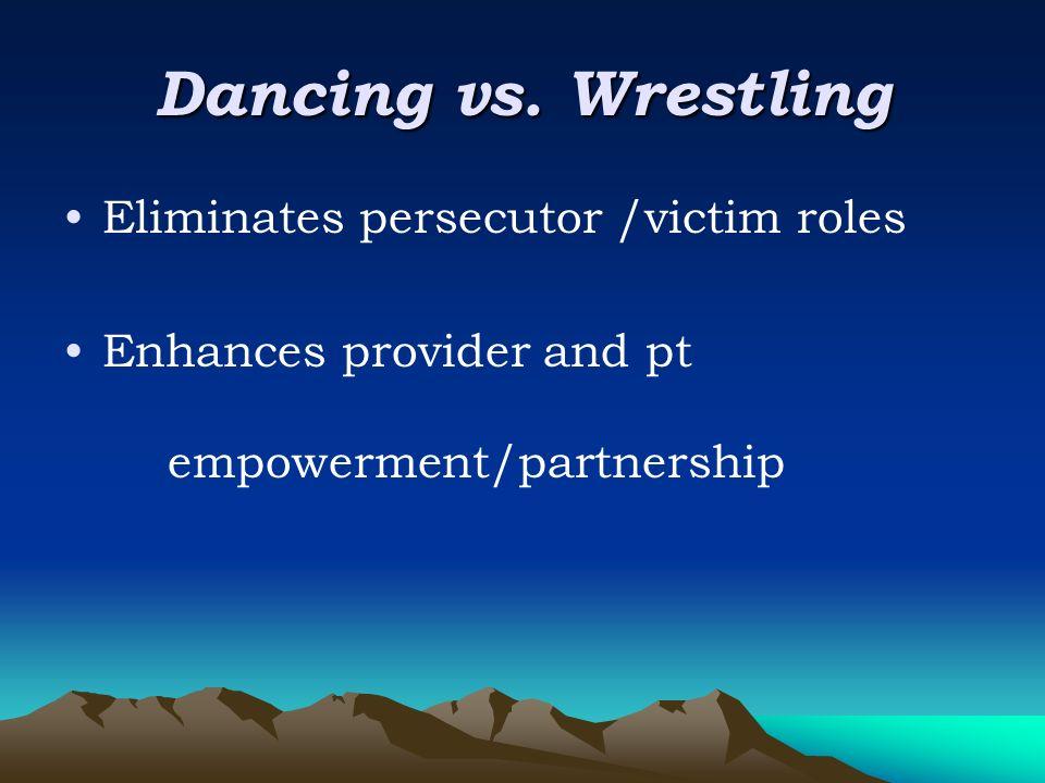 Dancing vs.