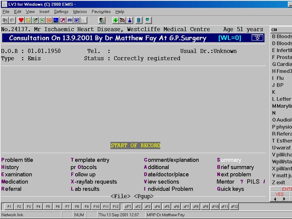 Dr Matt Fay 2003/Cardiology&Computers 19