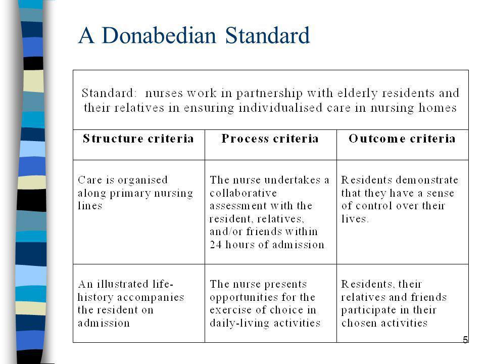 5 A Donabedian Standard