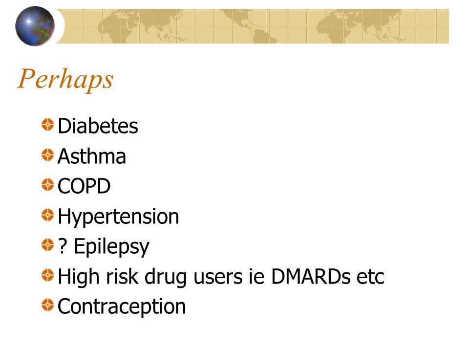 Perhaps Diabetes Asthma COPD Hypertension .